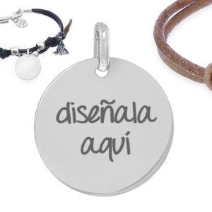 1057b174b1e4 Joya personalizada  pulsera cuero y plata ley diseña tu joya