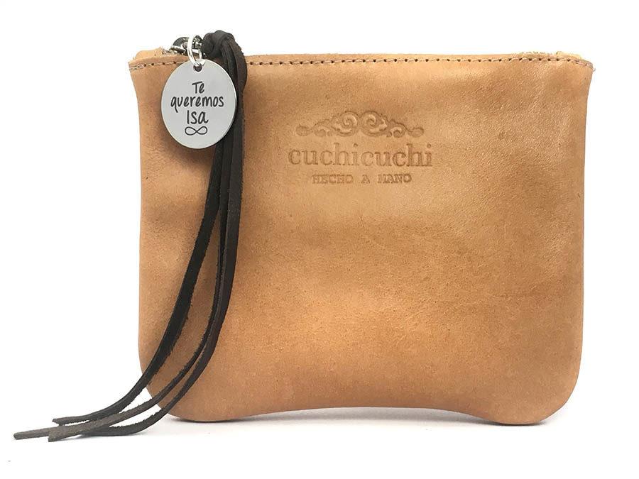 bolso de piel regalo personalizado nombre