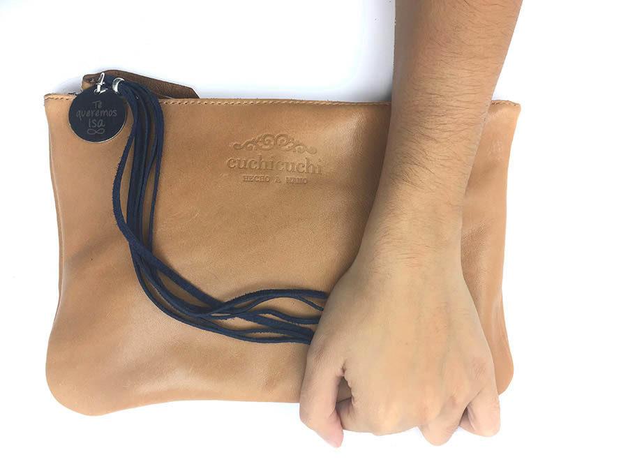 bolso personalizado piel claro cuero