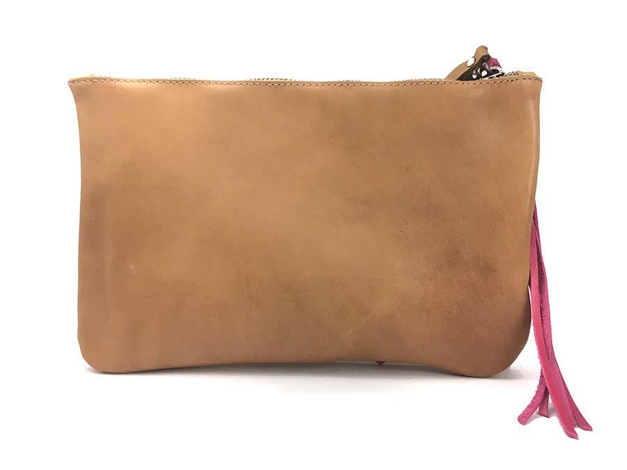 bolso personalizado piel rosa cuero