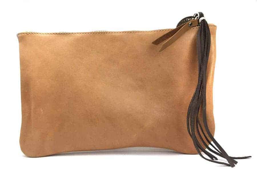 bolso personalizado piel marron cuero