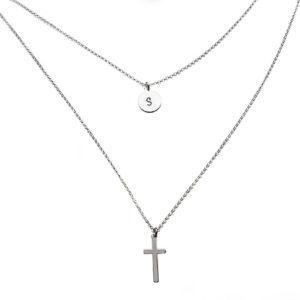 gargantilla personalizada doble cruz