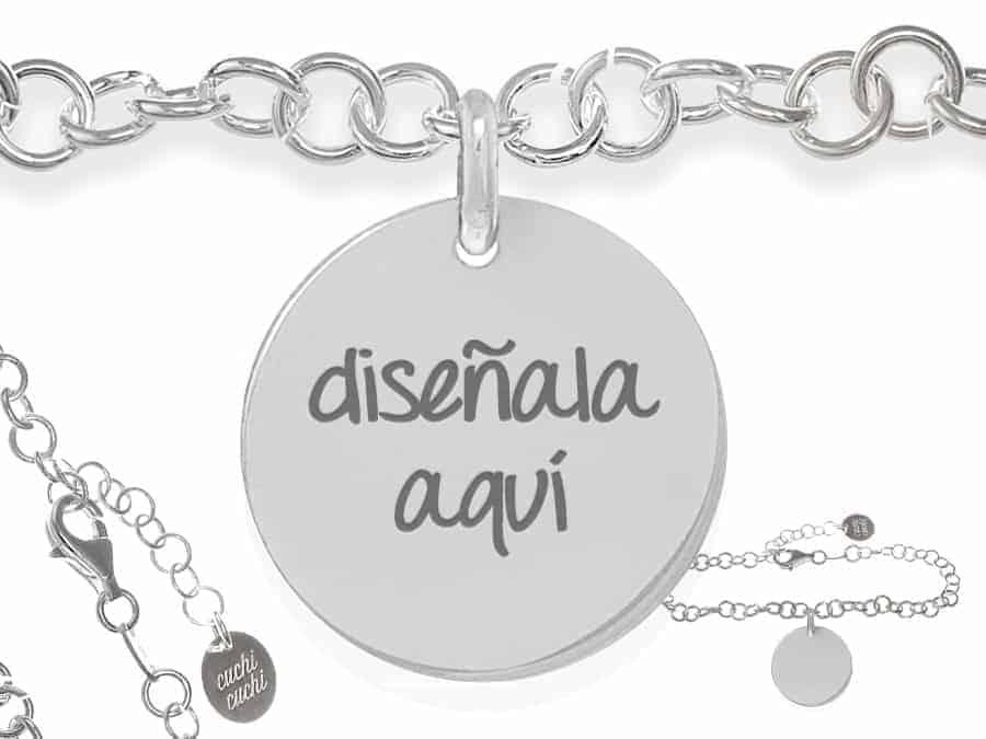 d7729a9cc9c8 Pulsera personalizada cadena eslabones plata ley  Regalos CuchiCuchi