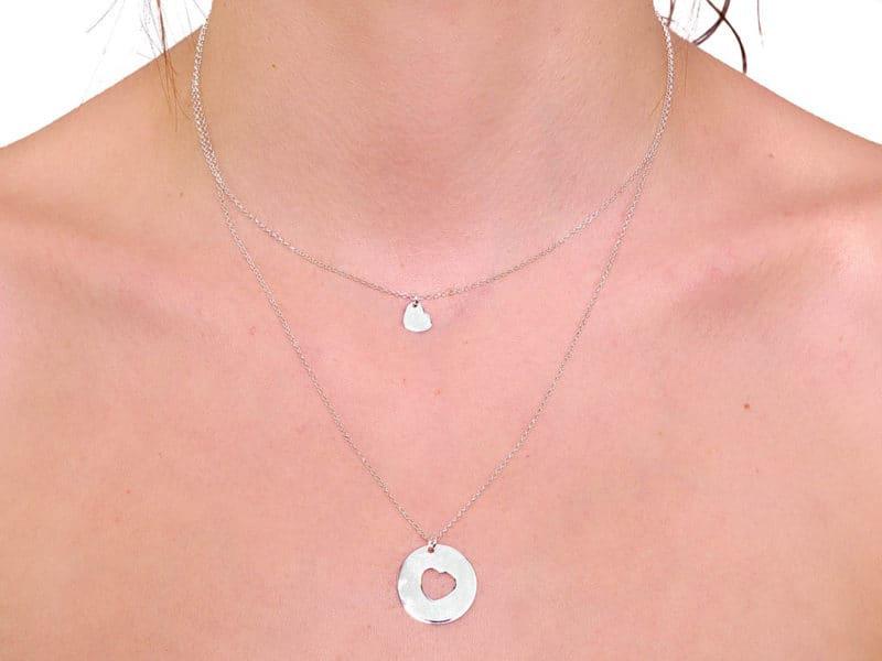 collar medalla corazon personalizado