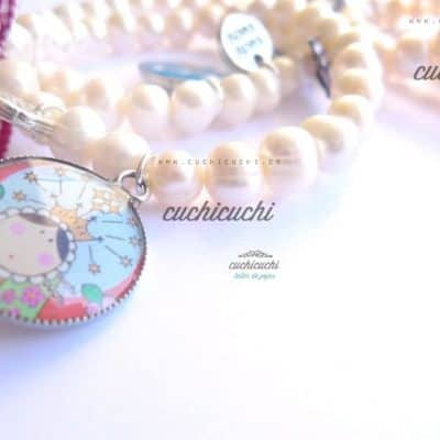 regalos infantiles virgen plata perlas