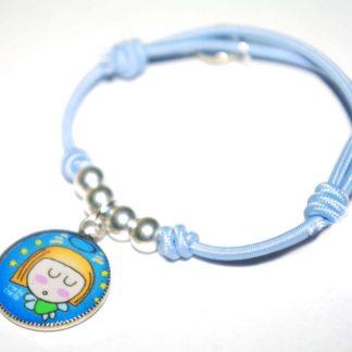 pulsera angel de la guarda joyeria infantil plata