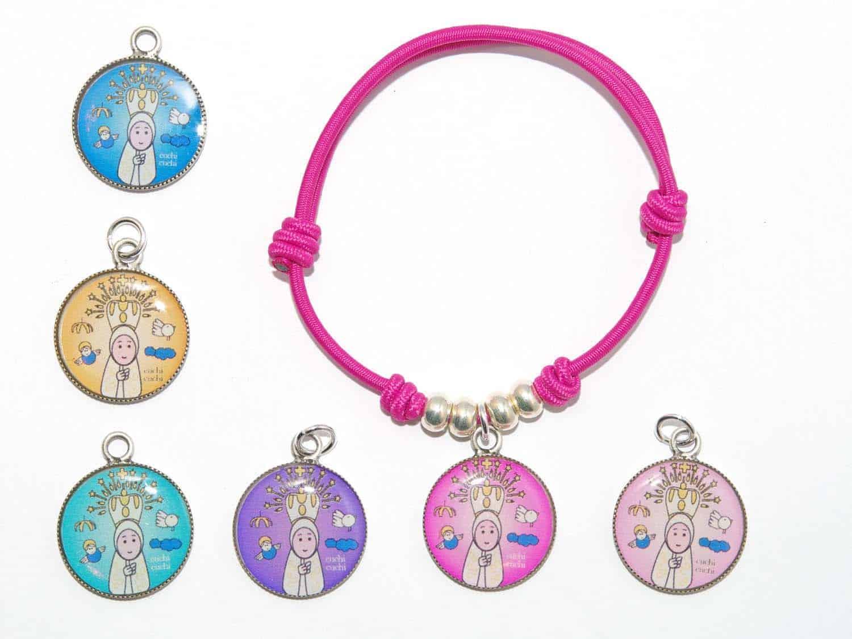 363efc41753e Joyas y regalos  Pulsera virgencita plis de colores CuchiCuchi