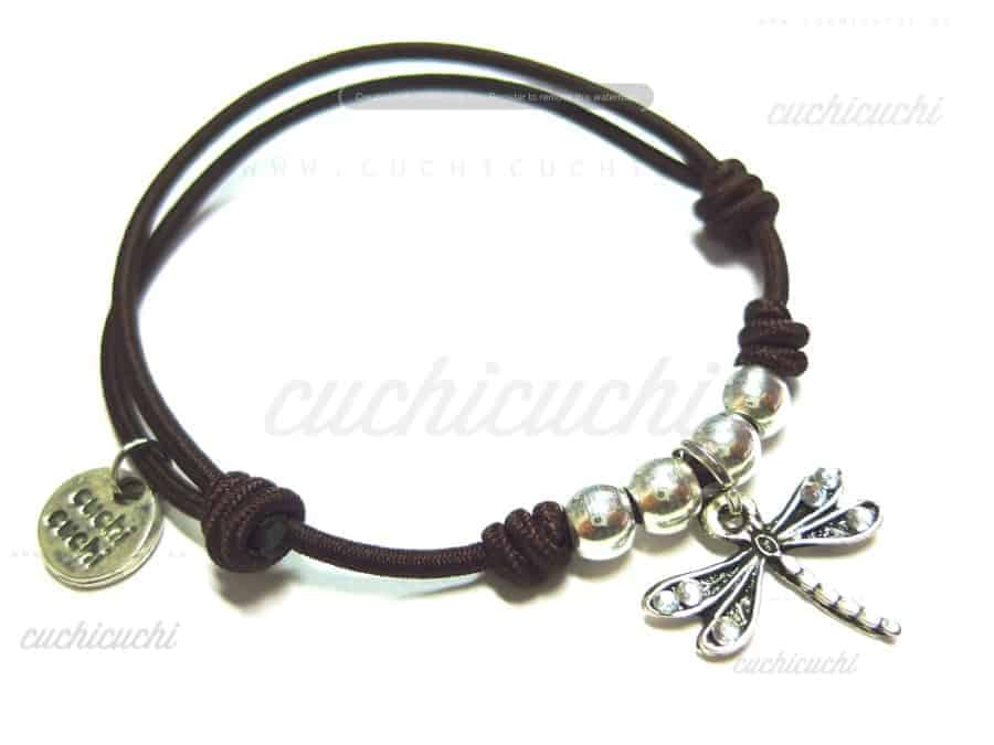 pulsera plata mariposa elastica