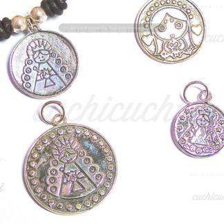 Medallas virgencita plis plata de ley