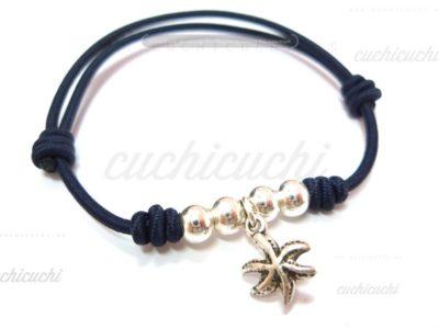 pulsera estrella de mar plata