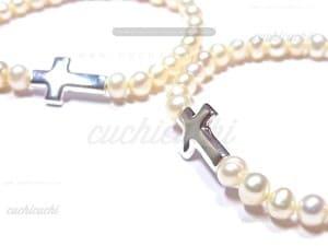 pulseras comunion perlas cruz regalar niña