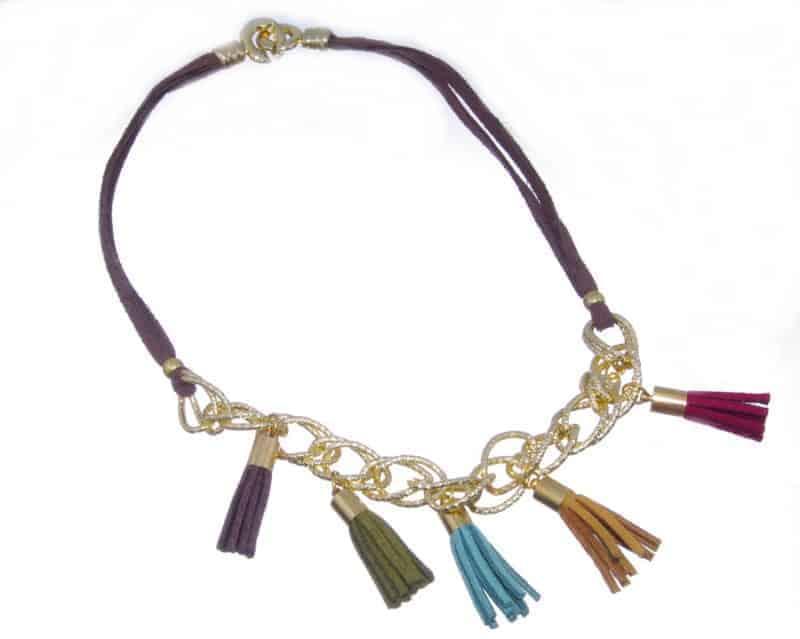 Collar Pompones multicolor