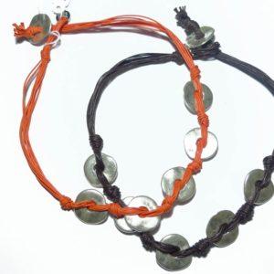 Collar de plata bañada aros y cordones