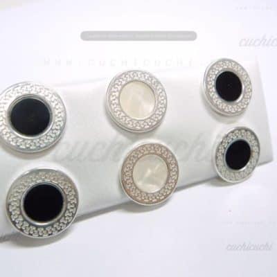 Pendiente de plata circulo arabesco