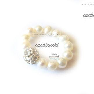 Anillo ROYAL de perlas y strass