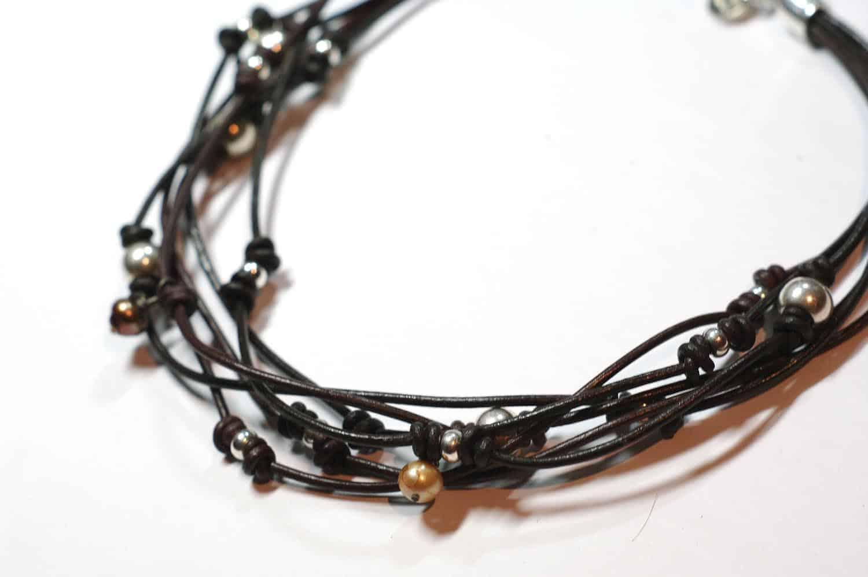 Collar de cuero y nudos cuchicuchi regalos personalizados y joyas - Collares de cuero ...