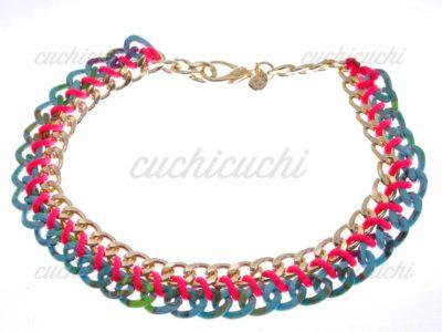 Collar Mikonos cadenas de colores