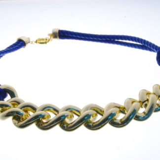 Collar Navy gold& blue