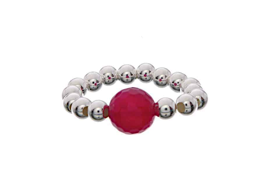 0fe63d99bbfb Anillo bolitas con piedra Rojo  Anillos de plata CuchiCuchi Joyeria