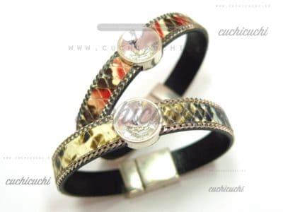 Pulsera LONDON serpiente y brillante