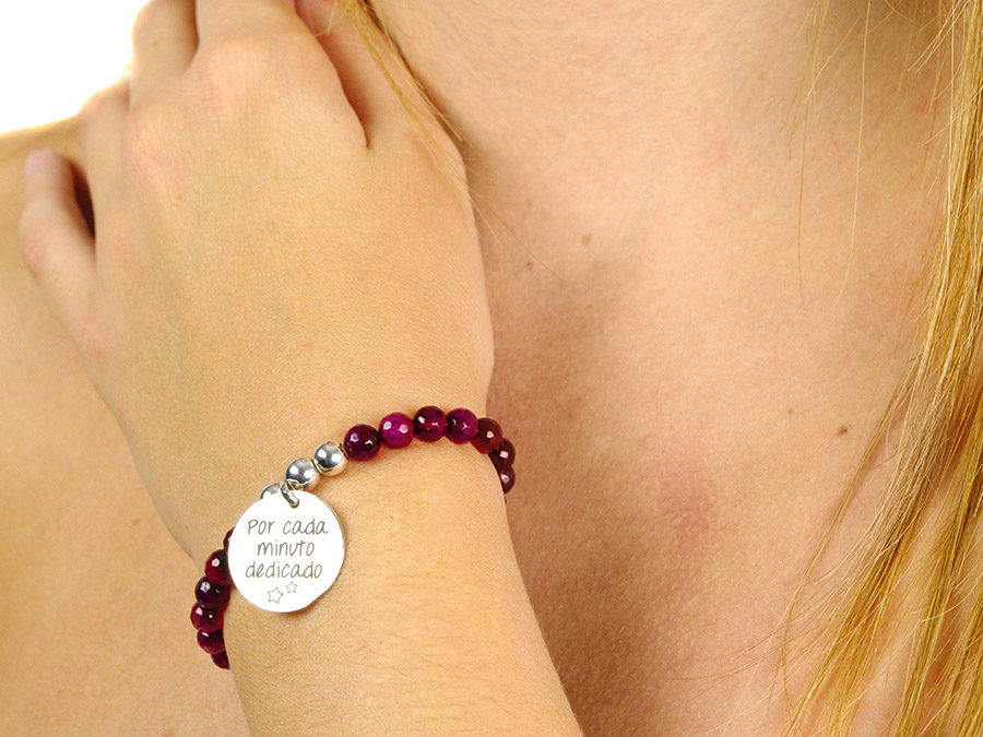 pulseras personalizada piedra natural