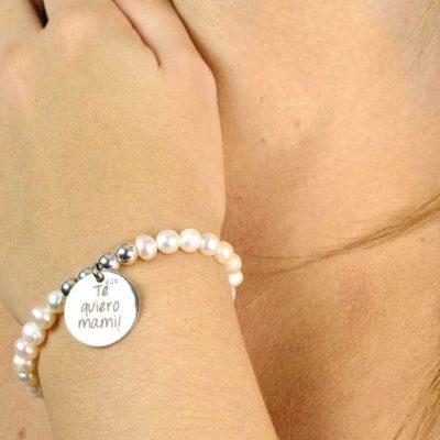 pulsera perlas personalizada