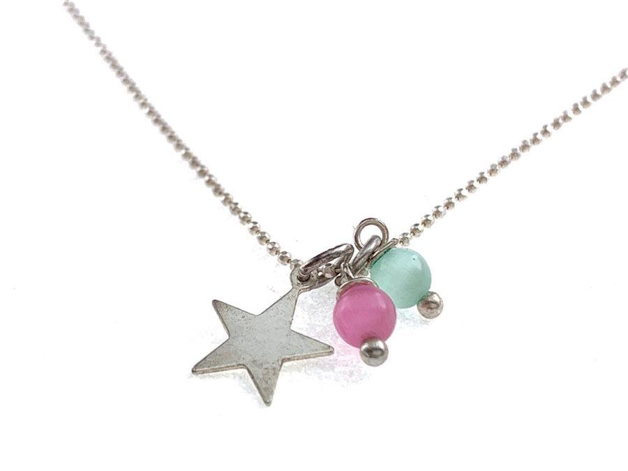 gargantilla estrellas plata ley colores