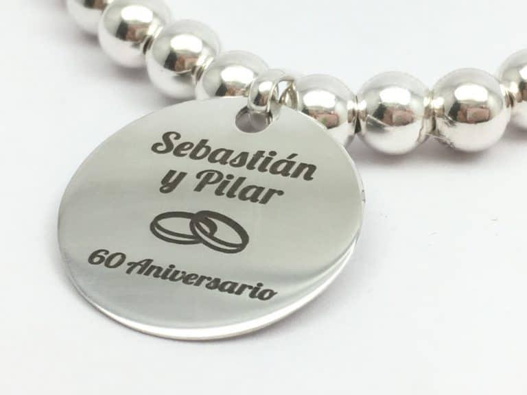 regalo aniversario personalizado plata