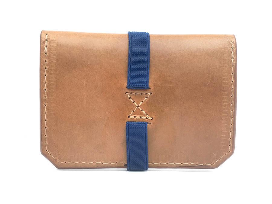 cartera personalizada piel azul mujer