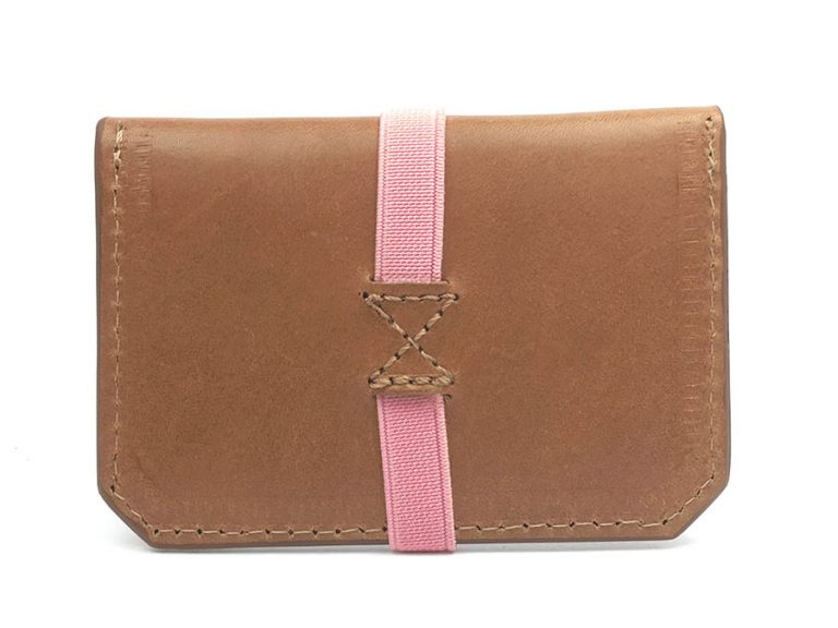cartera personalizada piel rosa mujer