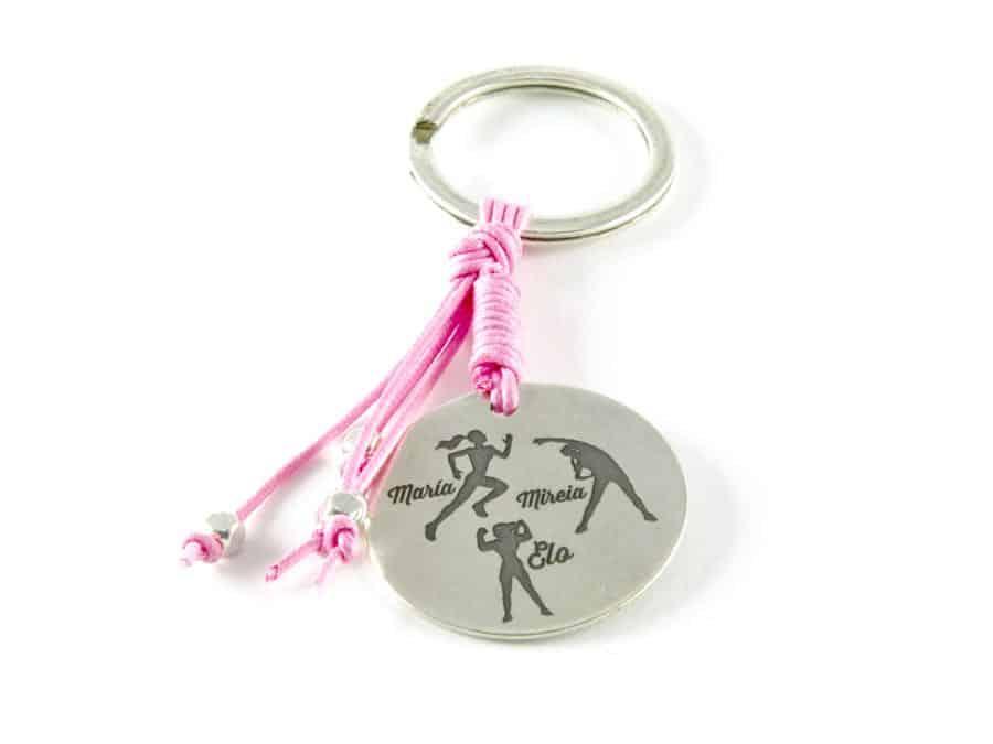 Llavero cordón rosa