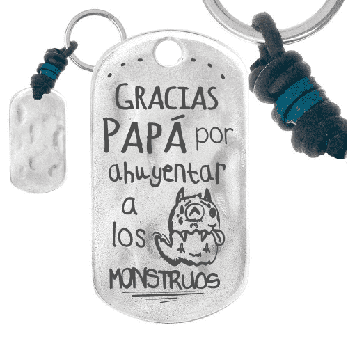 Llavero Rectangular Gracias Papa Regalos Personalizados Para Papas