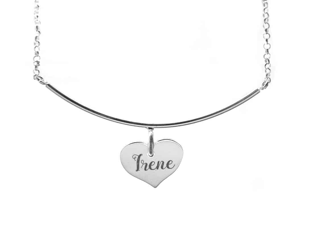 711597360c83 gargantilla personalizada corazon plata de ley · collar personalizado  corazon