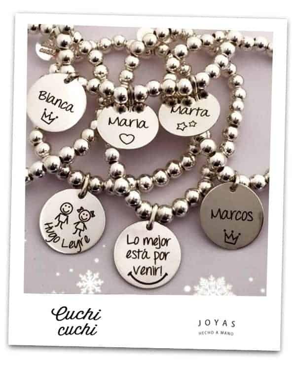 5d6dabb0f0ae colgantes personalizados pulseras nombres regalar Uno de los ...