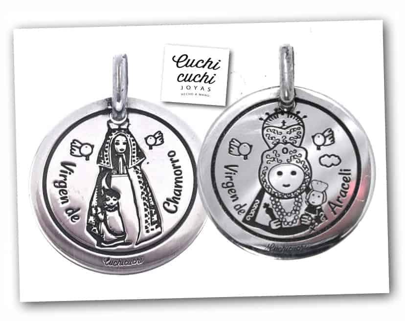 866e313b6ecb Medallas y colgantes personalizados con la Virgen patrona de tu ...