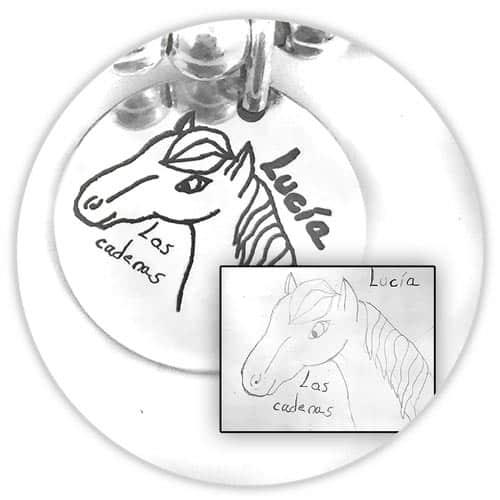 regalos personalizados medalla dibujos