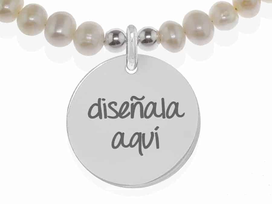 49b15d59bfe1 Joya personalizada  pulsera de perlas plata ley crea tu joya Cuchi Cuchi