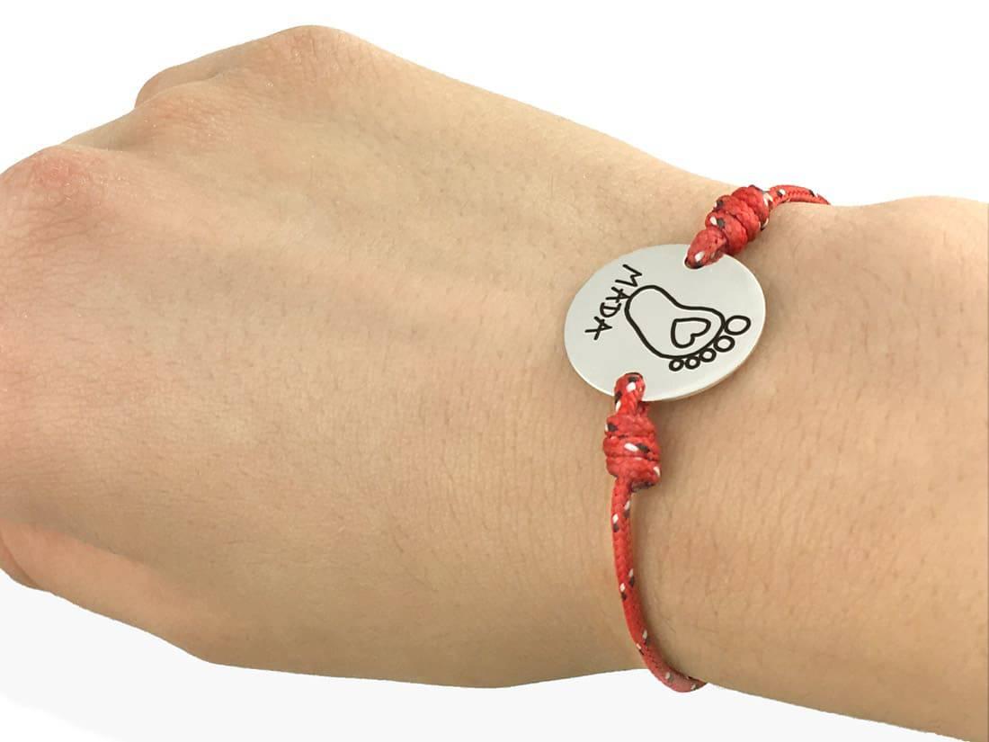 regalo personalizado mujer pulsera denia huella bebe