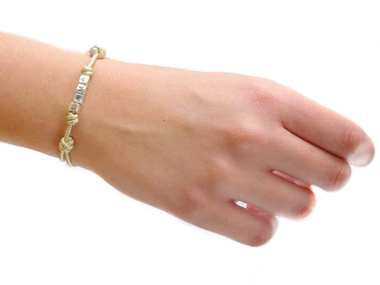 pulsera personalizada cubitos