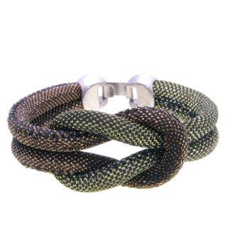 Pulsera snake dorado y cobre