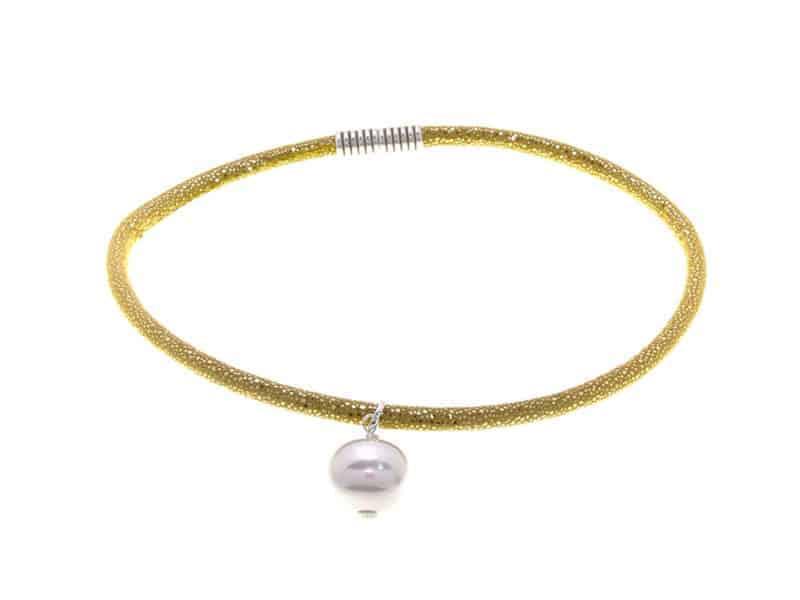 Gargantilla Super perla Dorado