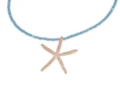 Gargantilla barbados estrella mar verde