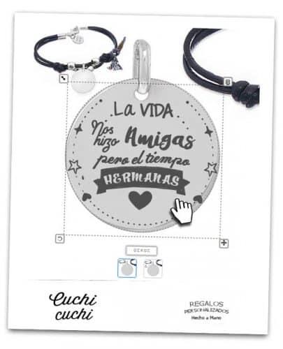 pulsera de amigas hermanas regalo personalizado online