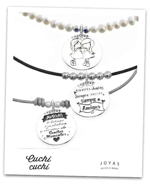 joyas para amigas primas hermanas collares colgantes personalizados joyeria