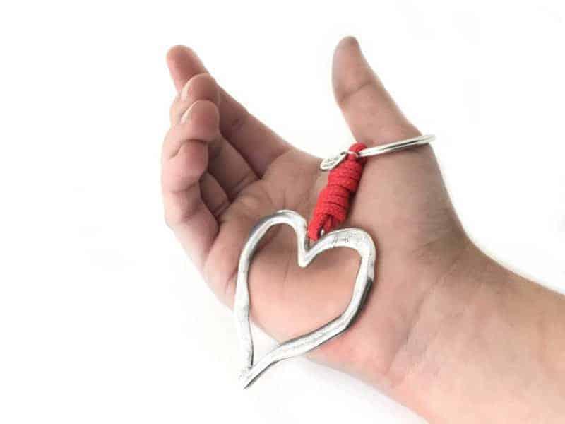 llavero corazon enamorados