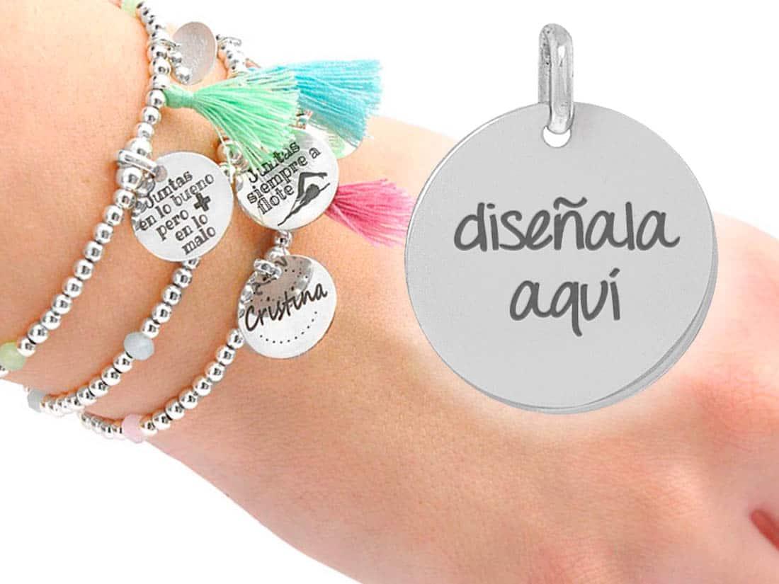 83a24fb166d5 Pulsera plata manhattan personalizada cristal - Cuchicuchi Regalos ...