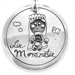 a701c6940588 Pulsera personalizada piedra brillo Virgencita plis - Cuchicuchi ...
