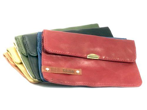 cartera cuero personalizada colores