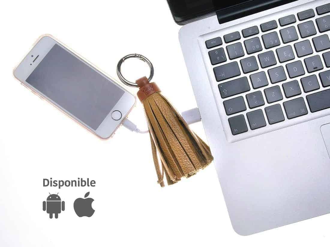 cargador smartphone mujer bolso