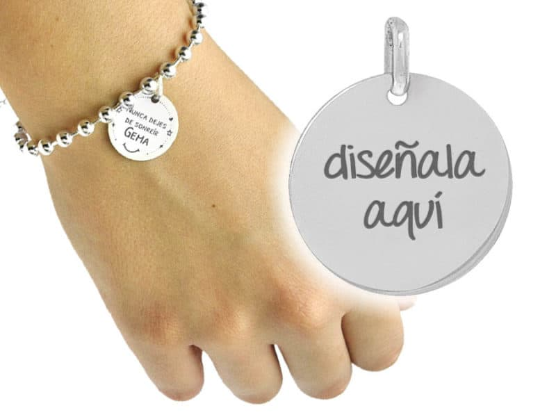 pulsera personalizada cadena boitas